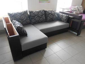 Угловой диван Оскар с нишей и баром АлАн