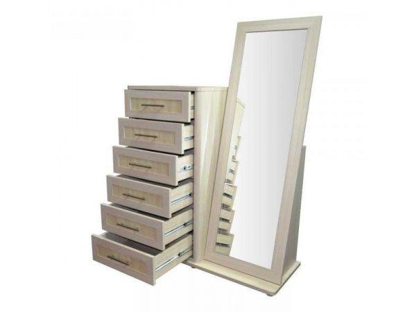 Комод с зеркалом 6Ш Токио Мебель Сервис 4362mz купить с доставкой по Украине