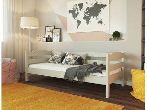 Кровать односпальная деревянная Милена Меблі ЛЕВ