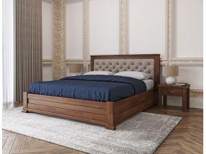 Кровать деревянная Лорд М Меблі Лев с мягким изголовьем