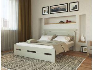 Деревяная двуспальная кровать Зевс Меблі Лев