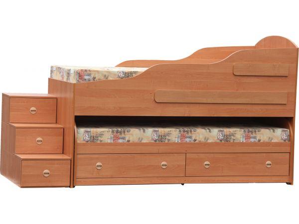 Ліжко двох'ярусне з шухлядами Берлін Берегиня 3997mz купити з доставкою по Україні
