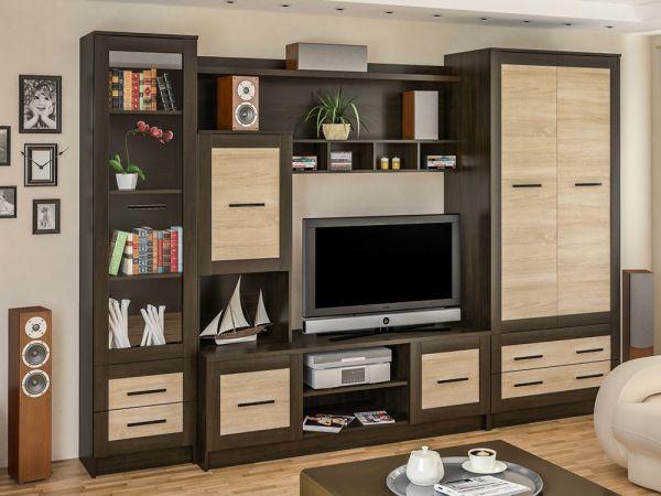 Стенка в гостиную Каспий Мебель Сервис 2849mz купить с доставкой по Украине
