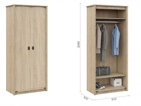 Шкаф двухдверный 2Д Валенсия Мебель Сервис 4373mz купить с доставкой по Украине