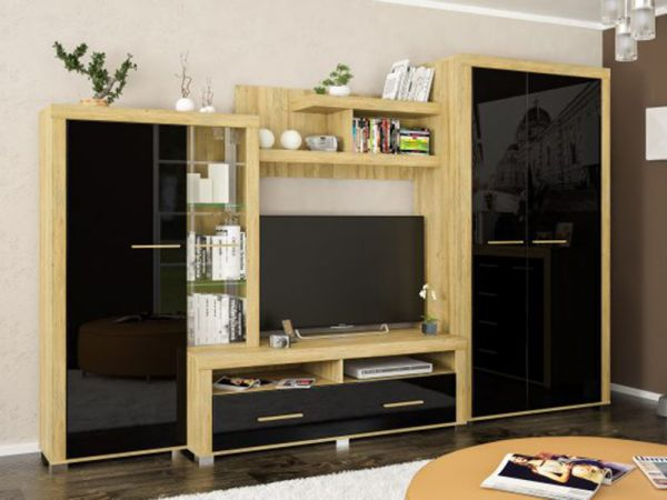 Модульна вітальня Неон-2 Мебель Сервіс 2988mz купити з доставкою по Україні