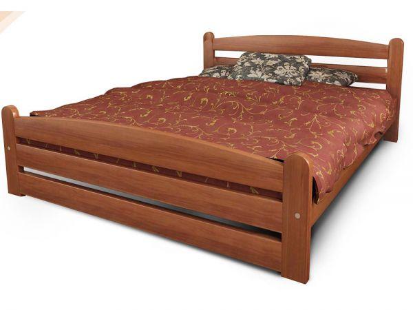 Кровать деревянная Вега 1 ТеМП-Мебель 36-7 купить с доставкой по Украине