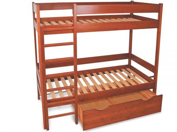 Кровать двухъярусная деревянная...