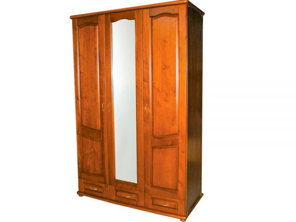 Шафа тридверний дерев'яний ТеМП-Мебель