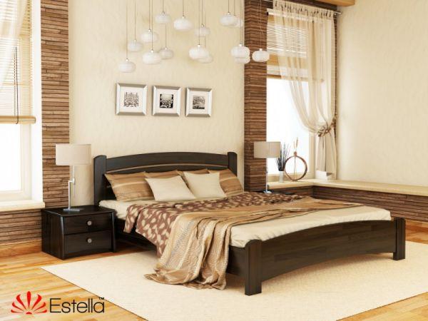 Ліжко дерев'яне Венеція Люкс Естелла 4035mz купити з доставкою по Україні