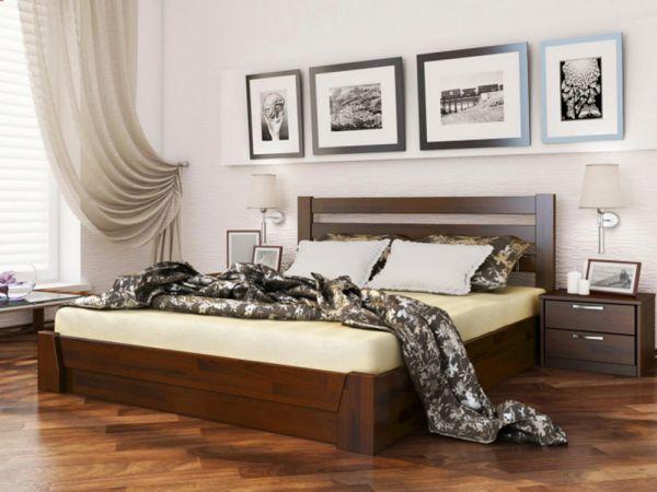 Кровать деревянная Селена Эстелла с подъемным механизмом 4037mz купить с доставкой по Украине