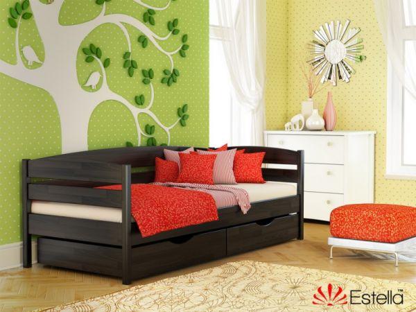 Ліжко односпальне дерев'яне Нота-плюс...