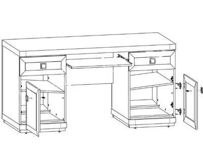 Стол компьютерный 158 Соната