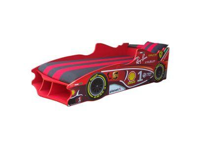 Кровать детская с мягким спойлером и подушкой Formula 1