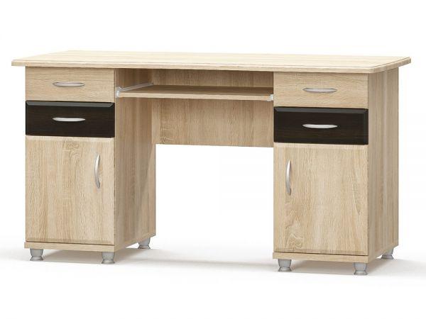 Стіл комп'ютерний двотумбовий Мебель Сервіс 2257mz купити з доставкою по Україні