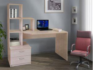 Стол компьютерный с ящиками и открытыми полками СК-10 МИКС-мебель