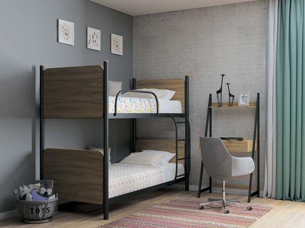 Кровать двухъярусная металлическая Арлекино Металл-Дизайн 3607mz купить с доставкой по Украине