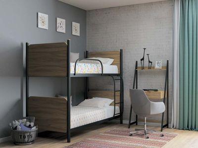 Кровать металлическая двухъярусная Арлекино Металл Дизайн