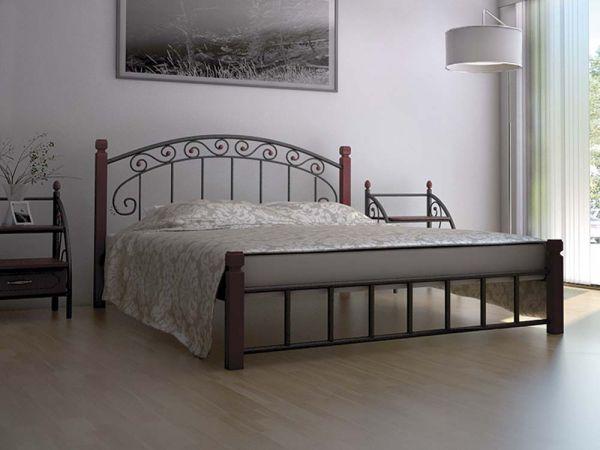 Кровать металлическая Афина Металл-Дизайн на деревянных ножках 4284mz купить с доставкой по Украине