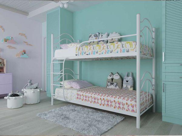 Кровать двухъярусная металлическая Диана Металл-Дизайн 4285mz купить с доставкой по Украине
