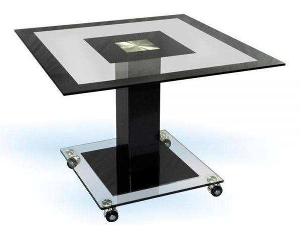 Стол журнальный со стеклянной столешницей КВ-104