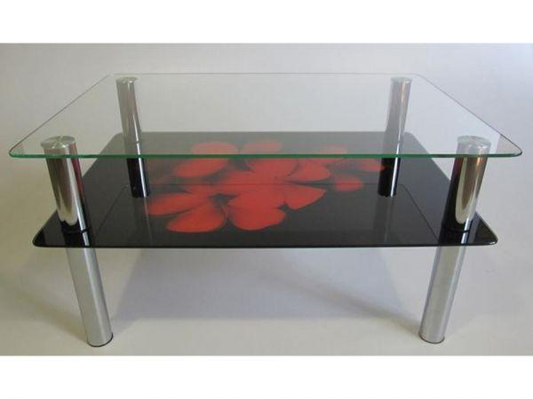 Стол журнальный со стеклянной столешницей К-570