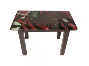Стіл кухонний зі скляною стільницею S