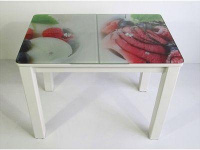Стол кухонный раскладной со стеклянной столешницей DK-87