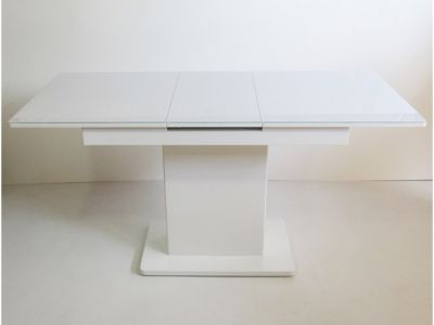 Стол кухонный раскладной со стеклянной столешницей Готье