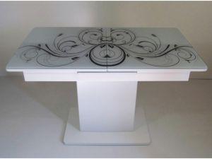 Стіл кухонний розкладний зі скляною стільницею Готьє