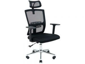 Кресло офисное с ортопедической спинкой и подголовником Зума Ричман