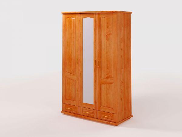 Шафа тридверний дерев'яний ТеМП-Мебель 2533mz купити з доставкою по Україні