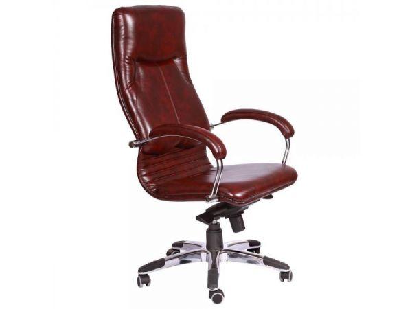 Крісло комп'ютерне з ортопедичною спинкою та м'якими підлокітниками Ніка AMF 3684 купити з доставкою по Україні