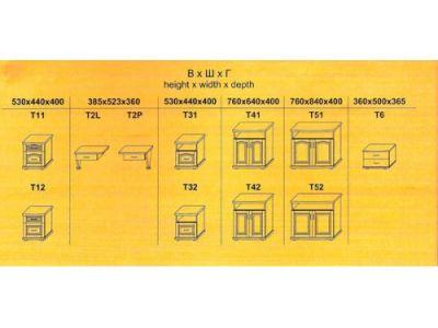 Тумбочка Т1 (прикроватная)