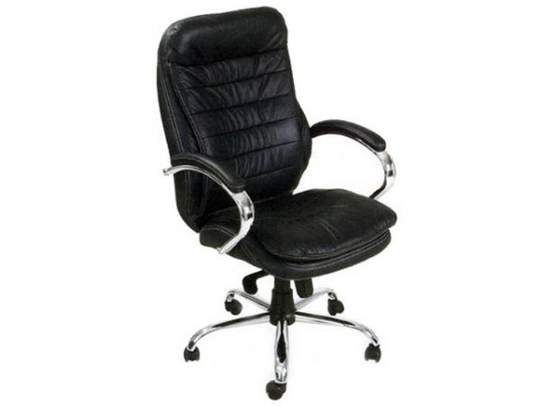 Крісло офісне шкіряне з ортопедичною спинкою Валенсія HB AMF 1563 купити з доставкою по Україні