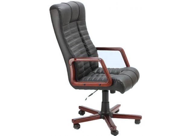 Кресло офисное с деревянными подлокотниками Атлантис Экстра AMF 1564 купить с доставкой по Украине